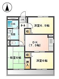 愛知県清須市春日高札の賃貸マンションの間取り