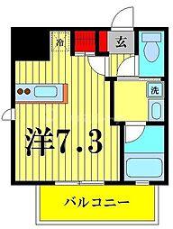 都営浅草線 本所吾妻橋駅 徒歩5分の賃貸マンション 5階ワンルームの間取り