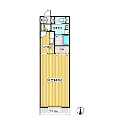 ビーバーズマンション北方[2階]の間取り