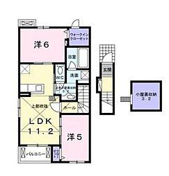 マーベラスK[2階]の間取り