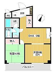 須山第二ビル bt[204kk号室]の間取り