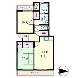 クレットドールY2[1階]の間取り
