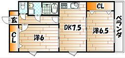 アンジェロポストV  三萩野エリア[6階]の間取り