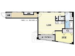 リバーサイド北堀江(旧村田第3ビル)[4階]の間取り