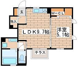 兵庫県神戸市須磨区月見山町3の賃貸アパートの間取り