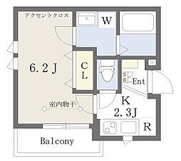 東京メトロ丸ノ内線 新大塚駅 徒歩1分の賃貸アパート 3階1Kの間取り