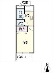 TOM HOUSE I[2階]の間取り