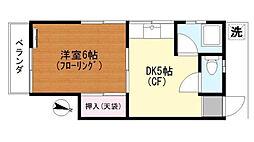 平本荘[202号室]の間取り