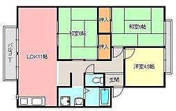 アーバンハイツ錦[2階]の間取り