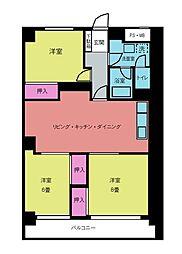 大倉山パークハイツ[304号室]の間取り