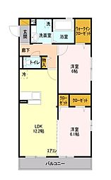 埼玉県富士見市針ケ谷2丁目の賃貸アパートの間取り