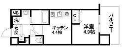 アクアプレイス京都洛南II[8階]の間取り