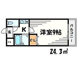 ベルトピア立花3[3階]の間取り