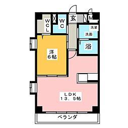 シャトー小田井[2階]の間取り