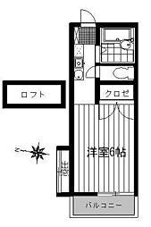 ライフステージ1[105号室]の間取り