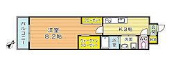 福岡県北九州市小倉北区東城野町の賃貸マンションの間取り