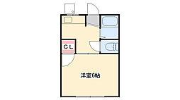 六甲光ハイツ(旧ハイツ三幸荘)[E13号室]の間取り
