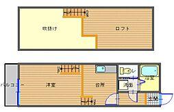 長崎県長崎市上野町の賃貸アパートの間取り