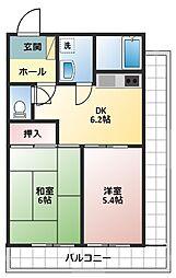 第一八千代ビル[403号室]の間取り