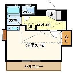 メゾン・Nakajima 201[2階]の間取り
