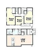 建物参考プラン:間取り/3LDK、延床面積/84.57?、建物参考価格/1200万円(税込)