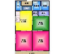 ハイツ駒坂[2階]の間取り