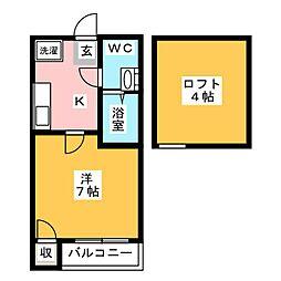 koko pendio平尾2[1階]の間取り