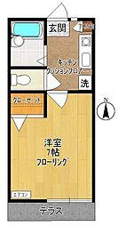 シャトーキヨミヤ8[102号室]の間取り