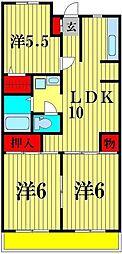 第11泉マンション[4階]の間取り