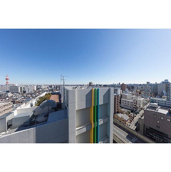 ヒューリック板橋の1101号室(北東側) 眺望