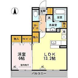 D-room南江戸(仮)[202 号室号室]の間取り