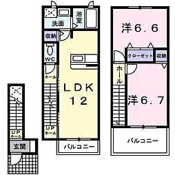 メゾン・みのうら[2階]の間取り