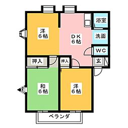 MEMORIAL KAMIYA B棟[2階]の間取り