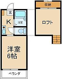 大阪府枚方市南中振1丁目の賃貸アパートの間取り