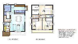 建物プラン 延床面積:82.64?/建物本体価格:2200万円(税別)