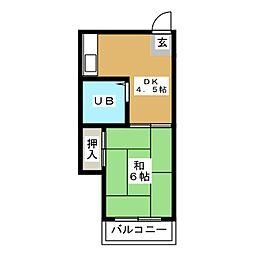 メモリアル箱崎[5階]の間取り