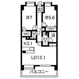 アプリークス百道浜[6階]の間取り