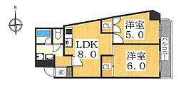 Amenity藤井寺 (アメニティ藤井寺)[2階]の間取り