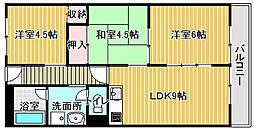 パークサイドマンション[305号室]の間取り