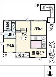 ユリーナASAHI[2階]の間取り