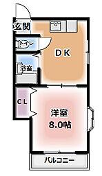 金田町ドリュック[2階]の間取り