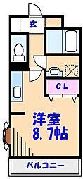 千葉県船橋市西船7丁目の賃貸アパートの間取り