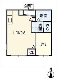 Ceres岩塚駅前 B棟[3階]の間取り