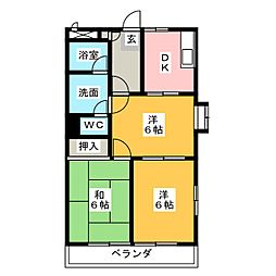 セルサス中央マンション[1階]の間取り