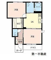 すみれ館B[1階]の間取り