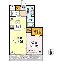 徳島県徳島市蔵本元町3丁目の賃貸アパートの間取り