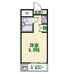 イエロ—エンバシー[2階]の間取り