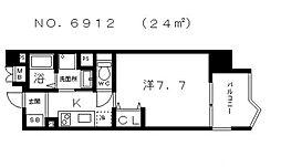 アスティナ上本町[3階]の間取り