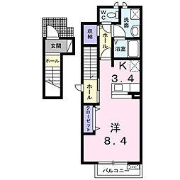 ヴィオラM[2階]の間取り