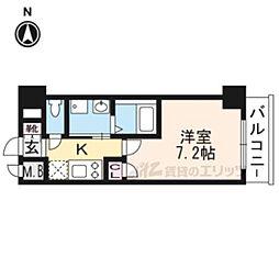 阪急京都本線 西京極駅 徒歩22分の賃貸マンション 6階1Kの間取り